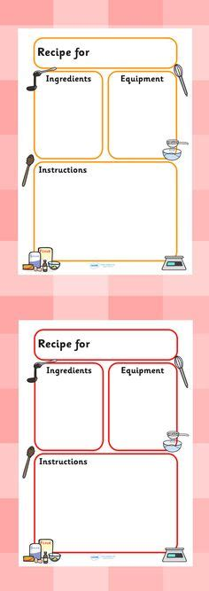 preschool recipe card template printable nutrition crossword puzzle food safety
