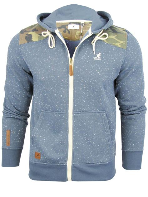 Jaket Hoodie Jumper Sweater Uber 01 kangol mens zip up hoodie sweat top jumper uber camo speckle ebay