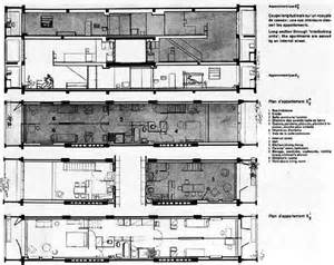 Cape Cod Floor Plan by Le Corbusier S Unit 233 D Habitation In Marseille Residence