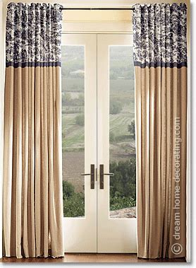 curtains with 2 different fabrics toile curtains valances