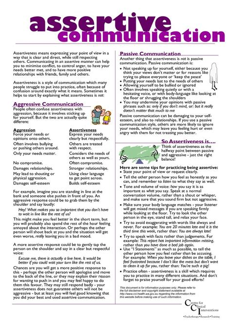 Communication Worksheets For Adults by 17 Best Images About Assertiveness On Make