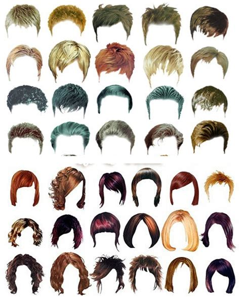 hair templates for photoshop hairstyle psd files free hairstyles