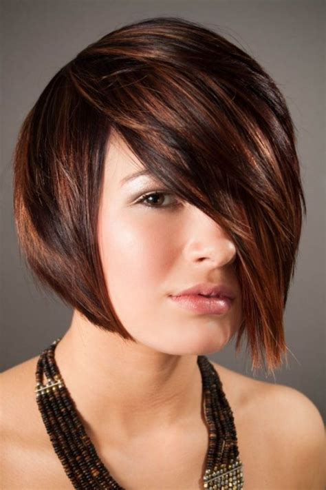 brunette hairstyle with lots of hilights for over 50 coolest hair highlights for short haircuts 2017 best