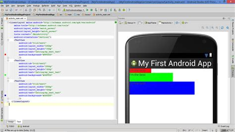 Set Layout Height Textview Android | lesson how to build android app with linearlayout plus
