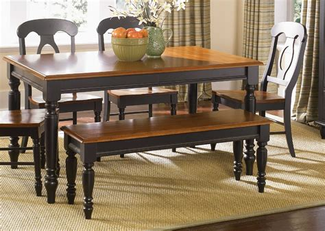 tables with benches for kitchens amazing of amazing country black wooden based kitchen tab 211