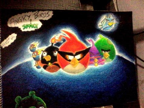painting angry birds angry birds space painting jaideep sherry touchtalent