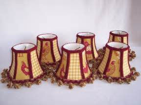 Country Chandelier Shades Country Roosters Chandelier Shades Set Of 5 Sold