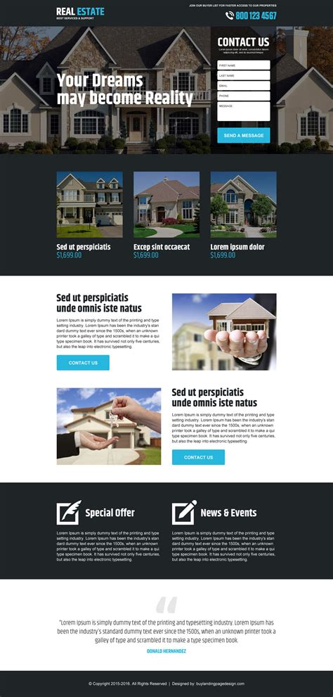Best Real Estate Service Support Lp 014 Real Estate Landing Page Design Preview Real Estate Landing Page Template Free