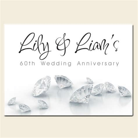 60th Wedding Anniversary by 60th Wedding Anniversary Invitations Diamonds