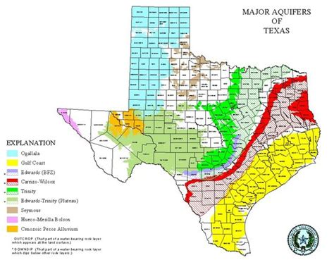 aquifers in texas map blank