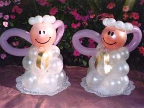 decoracin de servilleteros para bautizo tutti contenti decoraciones decoracion para bautizos como hacer angelitos con globos manualidades baptism decorations