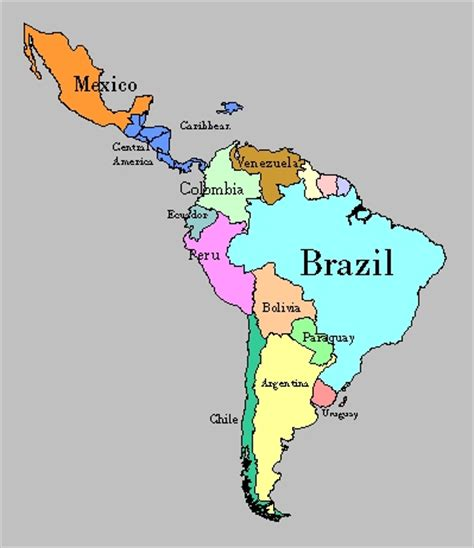 map of south america including mexico m a p s o a r s