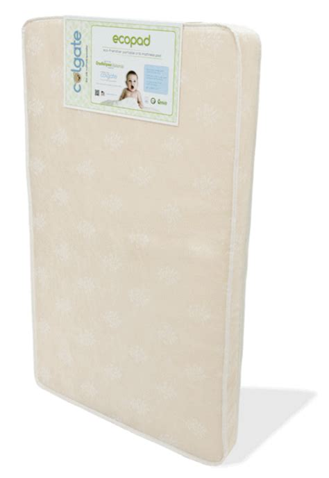 eco pad portable mini crib mattress colgate mattress