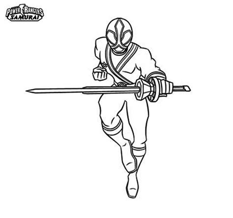 power rangers samurai coloring pages red power rangers samurai coloring page color luna