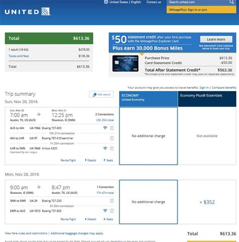 united airlines booking 563 614 texas to ireland incl st patrick s day r