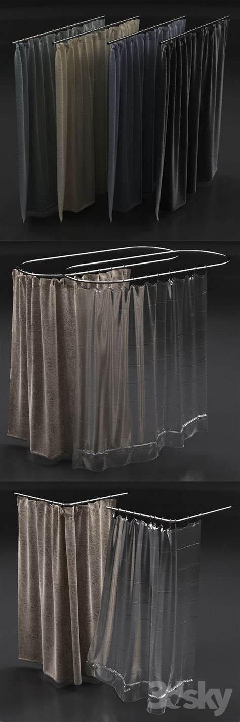 Restoration Hardware Shower Curtains Designs 3d Models Bathroom Accessories Curtains For Shower From Restoration Hardware