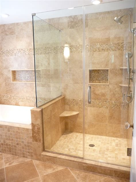Travertine Bathroom Tile Ideas Travertine Shower Home Design Ideas Pictures Remodel And Decor