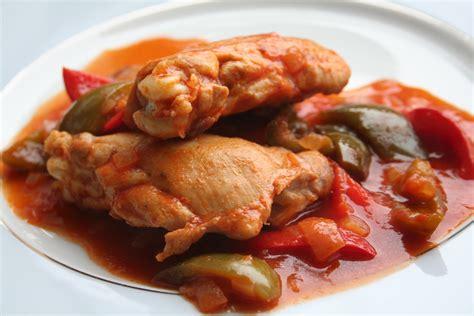 recettes poulet basquaise