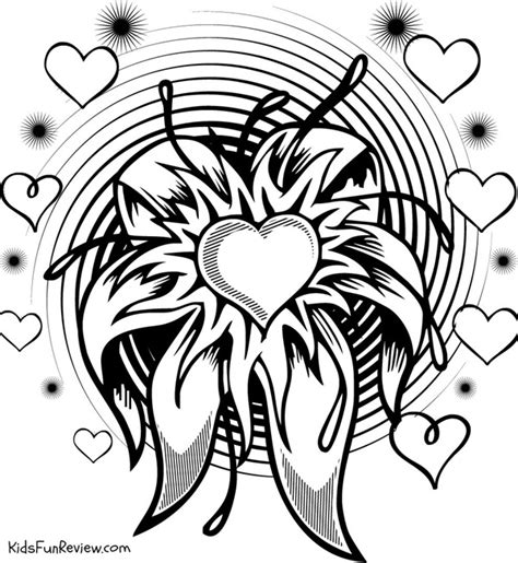 cool coloring pages of flowers 4 printable valentines day coloring pages the kid s