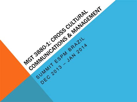 Cross Cultural Management Ppt Mba by Cross Cultural Communication And Management Summit