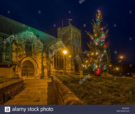 st marys church scarborough floodlights christmas tree