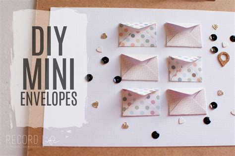 How To Make Small Paper Envelopes - mini envelope tutorial diy crafts turquoise avenue