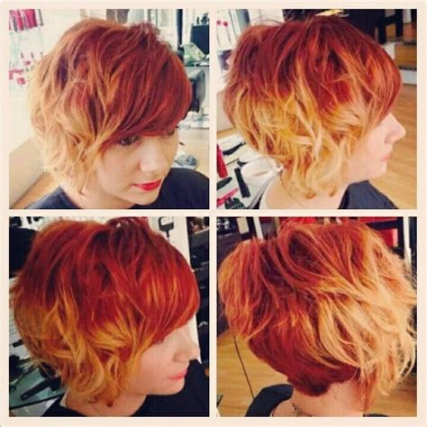 red to blonde ombre bob best 25 red to blonde ombre ideas on pinterest