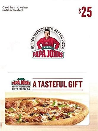 Check My Papa John S Gift Card Balance - amazon com papa john s pizza 25 gift card gift cards