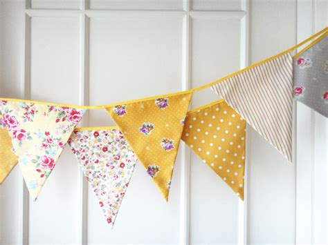 Wedding Banners And Bunting by Yellow Bunting Fabric Banners Garland Wedding Bunting