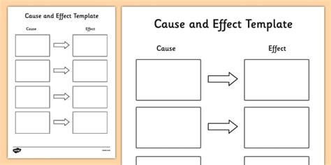 cause and effect template cause and effect cause and effect