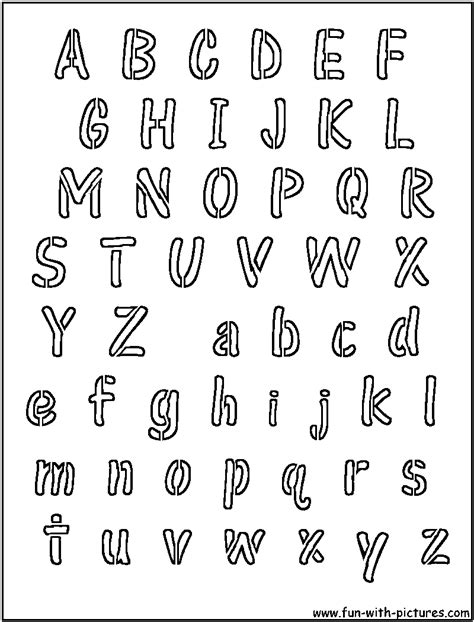 alphabet stencil coloring pages printable alphabet stencils advanced images search