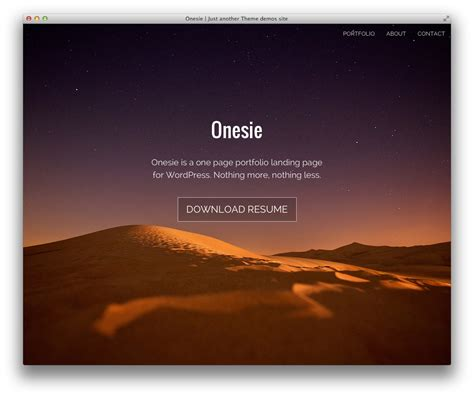 introducing onesie a free landing page theme for