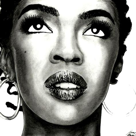 lauryn hill drawing hip hop group drawing fugees under magazine