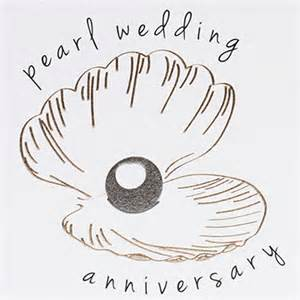 oyster shell and pearl 30th wedding anniversary card karenza paperie