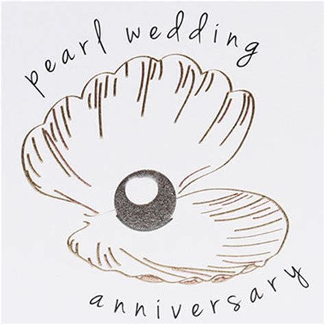 Shell Gift Card Faq - oyster shell and pearl 30th wedding anniversary card karenza paperie