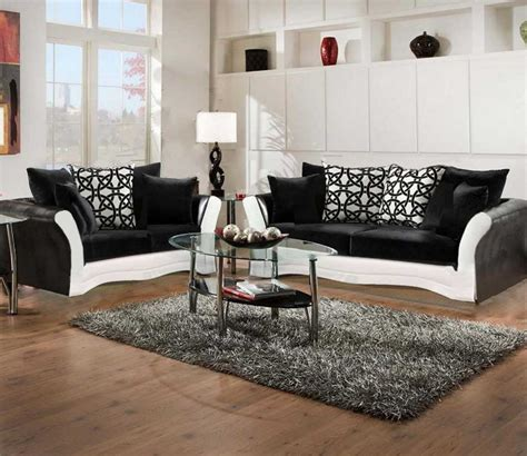black and white sofa and living room set 8000 black