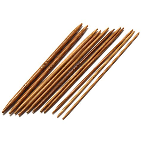 2 75 knitting needles conversion ebluejay 55pcs 11 sizes carbonized bamboo pointed