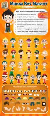 manga boy mascot creation kit www moderngentz com your
