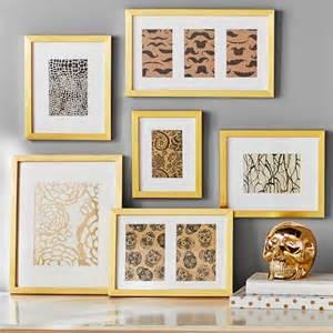 Pottery Barn Bath Mat Gallery Frames Set Of 6 Gold Pbteen
