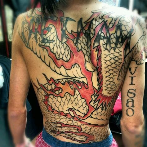 full body dragon tattoo male full body dragon tattoo by hung at hung s tattoo parlor