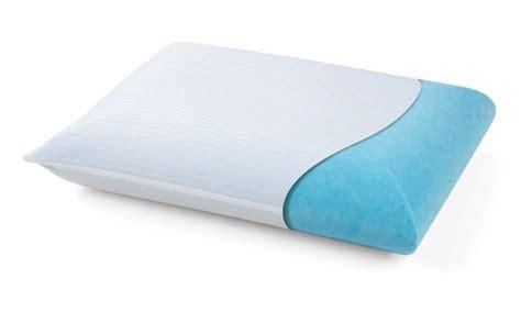 pure comfort gel memory foam pillow lux gel memory foam pillow groupon goods