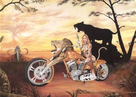 Fantasy Motorrad Bilder by Oil Painting Original Surreal Biker Art Fantasy Motorcycle