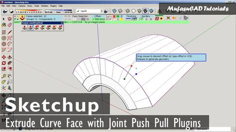 sketch pattern along curve solidworks sketchup extrude curve face with joint push pull youtube