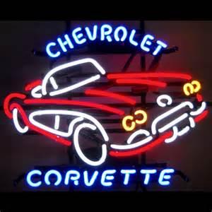Chevrolet Neon Chevrolet Corvette C1 Neon Sign Neon4less