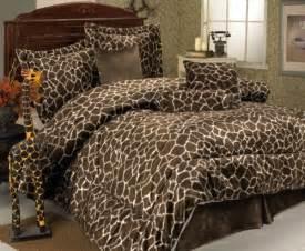 Cheetah Bedroom Set 7pcs full giraffe animal kingdom bedding comforter set