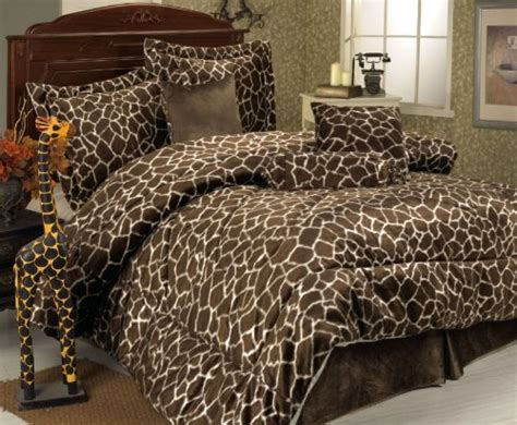 giraffe bedroom animal print bedding room decor