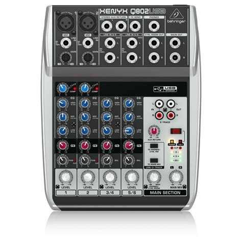 Mixer Lighting Behringer behringer xenyx q802usb usb mixer at gear4music