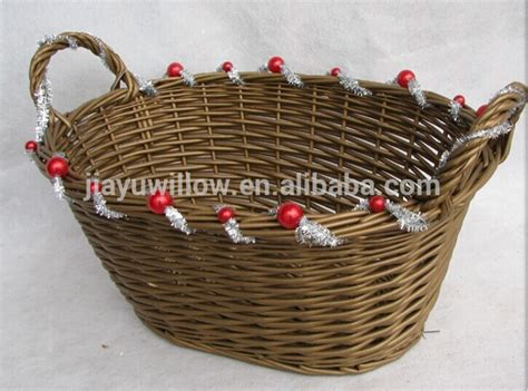 handmade oval wicker gift basket empty wicker