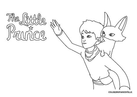 little prince free colouring pages
