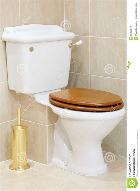 beautiful toilets beautiful clean and white toilet with wooden lid stock photography image 33985072